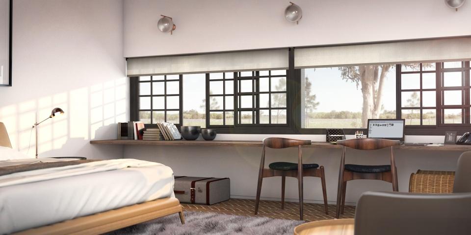 Guest Room Interior design Render Mediterranean(3)